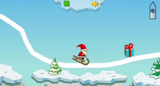 Jeux Pere Noel Le jeu du Père Noël en luge, pour cette journée de Noël